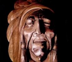 Antoine Cavalier - Peinture hyperrealiste sur toile effectuee aux pastels  14 -  40x50cm -  Le masque  - Tableau vendu