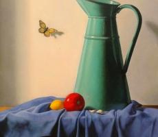 Antoine Cavalier - Peinture hyperrealiste a l huile sur toile 8 -  40x50cm - Tableau vendu