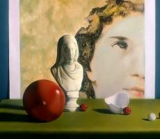 Antoine Cavalier - Peinture hyperrealiste a l huile sur toile 9 -  50x40cm -  Espoir pour le monde  - Tableau vendu