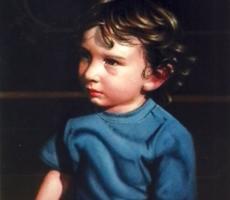 Antoine Cavalier - Portrait hyperrealiste a l huile sur toile 2 -  50x40cm  - Tableau fait sur commande