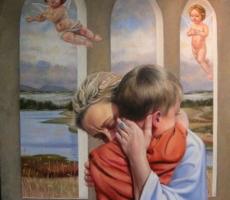 Antoine Cavalier - Portrait hyperrealiste a l huile sur toile 4 -  50x40cm  - Tableau fait sur commande