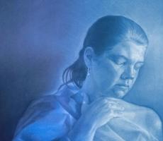 Antoine Cavalier - Portrait hyperrealiste effectue avec pastels sur toile 8 -  75x60cm  - Tableau fait sur commande